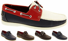 Mens SHORESIDE Boat Lace Up Loafers Casual Smart Deck Shoes Sz Size 7 8 9 10 11