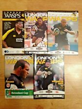 London Wasps Rugby Programmes 1977 - 2010