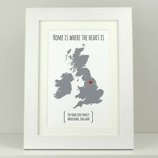 Personalised new home gift / Leaving present / Home is where the heart is VA011