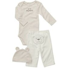 Carter's Infant Boys 3-Piece Striped Bear Layette Set with Hat NWT 6M 9M 12M