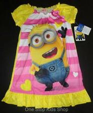 DESPICABLE ME Girls 4 5 6 6X 7 8 10 12 Pjs Pajamas NIGHTGOWN Pjs Minion