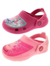 Girls Pink Peppa Pig Clogs Beach Sandals Mules Cloggs Kids Flat Shoes Size