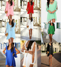 Sexy Summer Women's Casual Chiffon Party Evening Cocktail Short Mini Dress