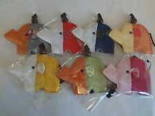 THAI SILK KEY CHAIN - Elephant Design Collections- Multiple Two Tone Colors