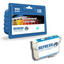 REMANUFACTURED (NON GENUINE) T0802 CYAN INK CARTRIDGE FOR EPSON STYLUS PRINTERS