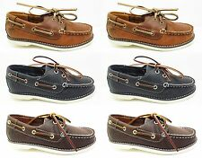NEW Boys TIMBERLAND 2-Eye Classic Boat Deck Shoes Leather Kids Sale Size 5 - 2