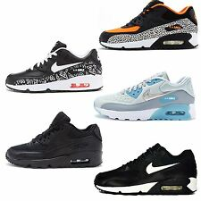 Nike Air Max 90 GS Fashion Leather Glow Mesh Trainers All Sizes