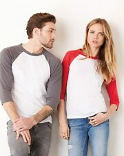 Bella Canvas Mens Women Unisex 3/4 Sleeve Baseball Jersey Raglan Tee XS-2XL 3200