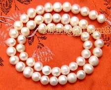 """SALE Small 6-7mm White Natural Freshwater pearl Loose Beads 14""""-los43"""