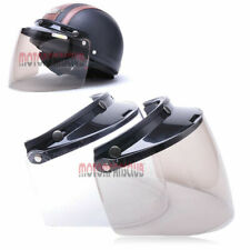 Universal 3 Snap Flip Up Visor Shield Lens for Retro Open Face Motorcycle Helmet