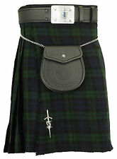 Herren Kilt Blackwatch Tartan Traditionell Highland Kleid Röcke