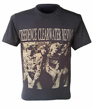 Retro Creedence Clearwater Revival T-shirt Rock Music Size S M L XL black JJ-021