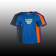 """DAMIEN First Name Men's T Shirt Custom Name """"KNOWS BEST"""" Shirt 5 COLORS"""
