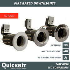 50 X FIRE RATED DOWNLIGHTS GU10 MAINS 240V LED RECESSED SPOTLIGHT CEILING LIGHTS