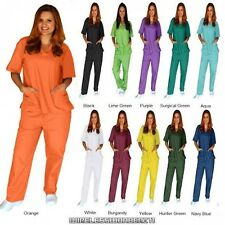 Womens Nursing Scrub Sets Natural Uniforms Men Women Unisex Top PantsMedical Set