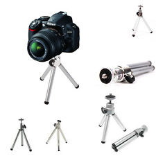 New Silver Universal Small Adjustable Tripod Mount Camera Or Camcorder Stand