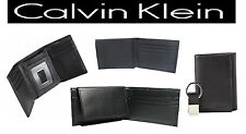 Calvin Klein CK Wallet BI / TRI FOLD  Men's Leather ID Card Holder BLK -3 STYLES