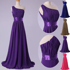 CHEAP! Long Chiffon Formal Evening Gowns Party Bridesmaid PLUS SIZE Prom Dresses
