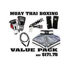 Muay Thai Value Pack Shorts ACE Boxing Gloves Wraps Ankle Supports Skipping rope