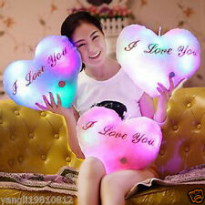 NEW Colorful LED Luminous Light Hugging Pillow Romantic Gifts for Girlfriend