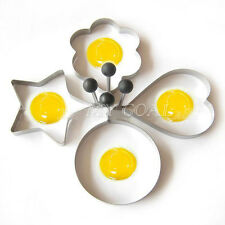 Stainless Steel Pancake Mold Ring Cooking Fried Egg Shaper Mould Kitchen Tools
