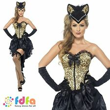 BURLESQUE CAN CAN KITTY MOULIN ROUGE-UK 8-18 - womens ladies fancy dress costume