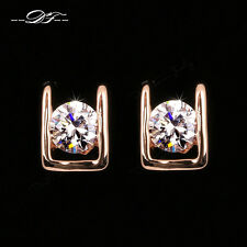 New Cubic Zirconia Stud Earring 18KRGP Fashion Crystal Party Jewellery For Women