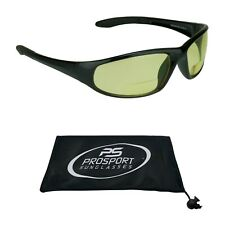 Z87 Safety Yellow Lens Night Vision Bifocal Reader Glasses Driving Computer