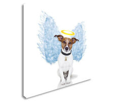 Angel dog feather wings Canvas art Cheap Print Wall Art sq