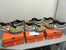NEW Nike Air Max Flyknit Multicolor SZ 8 9 11 racer trainer black white volt htm
