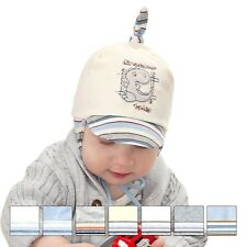 LOVELY SOFT COLORFUL BRAND NEW WITH TAGS TIED HAT FOR SPRING FOR LITTLE BOY 0-3M