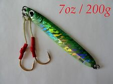 Knife Jigs 7oz /200g Green Vertical Butterfly Fishing Lures- Choose Pieces