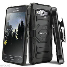 Evocel® Galaxy Grand Prime Rugged Holster Case with Kickstand & Belt Swivel Clip