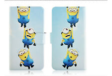 Minions Despicable me Magnetic PU Leather Flip Case Cover For Samsung Galaxy 45