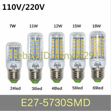 Energy Efficient 7W/11W/12W/15W/18W E27 5730SMD led Corn Bulb led lamp AC110/220
