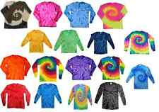 Long Sleeve Tie Dye Tees, Kids, Youth L (14-16), 100% Cotton, Multi-Color