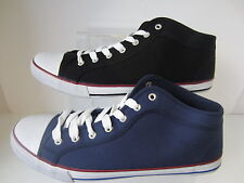 Mens Black/Navy Spot On Lace Up Canvas Shoes UK Sizes 7 - 12 A2097