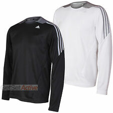 adidas Mens Performance 365 Black White climawarm Long Sleeved T-Shirt Tee Top