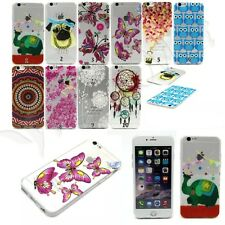 New 10 Patterns Clear Soft TPU Back Cover Case Skin for iPhone Samsung LG Sony