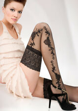 Sensuous 13 cm Deep Lace Top Patterned Hold-ups-stockings 20 Denier Hold-Ups