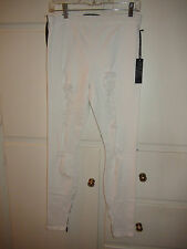 Joe's Jeans Destroyed Torn Legging White or Black Denim ICDQ5976 $98 NWT S & M