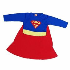 LAST ONE!! Supergirl Superwoman Superhero Girls Fancy Dress Party Costume Yr 6-7