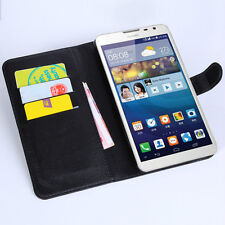 Stand wallet Leather Case / Card + film for Huawei Ascend Mate2 4G MT2-L03  d