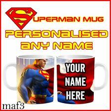 Personalised Team Superman Tea Mugs Cups Special Birthday Gifts Childrens Kids