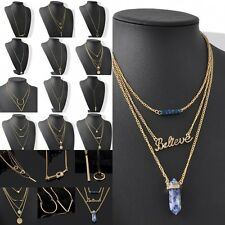 New Chic Fashion Woman Infinity Gold Chain Choker Charms Pendant Necklace