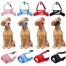 Dog Pet Muzzle Anti Stop Biting Barking Nipping Chewing Mesh Mask Muzzles