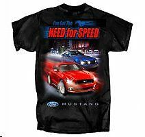 Ford Mustang Apparel Need For Speed  T Shirt Tee