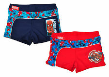 Trunks Boxer Swimming Briefs Boys Marvel Spiderman Web Trim  3 to 8 Years
