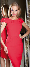 Cocktail Party Peplum Work Office Evening Formal Ladies Dress Size 8 - 18