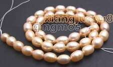 "SALE 7-8mm Natural Pink Freshwater rice Pearl Loose Beads 15""-los406"